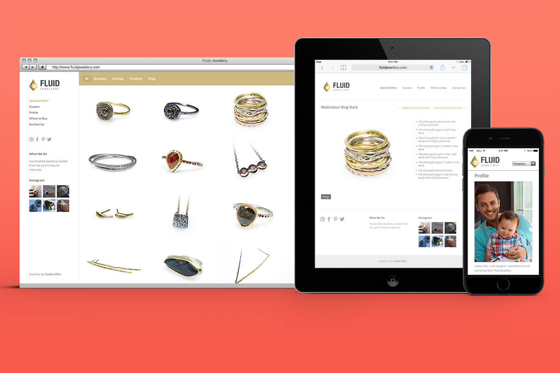 Fluid Jewellery Website